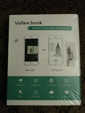 Upgraded Vellee Smart Notebook 2.0 W/ Erasable Pen Reusable Use W/CamScanner App