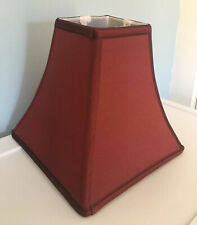 Square Curved Deep Red Maroon Lamp Shade 9x9x4""