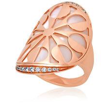 bvlgari 18k rose gold intarsio ring size 7