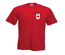 Maglie da calcio di squadre nazionali rosso a manica corta