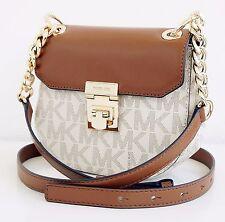 Michael Kors Tasche/Bag CECELIA Mini SADDLE Shoulder Vanilla/Luggage NEU