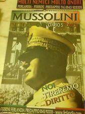 CALENDARIO DA COLLEZIONE BENITO MUSSOLINI FASCISMO FERLANDIA PREDAPPIO ANNI 2000