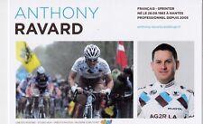 CYCLISME carte cycliste ANTHONY RAVARD équipe AG2R prévoyance 2011