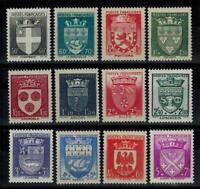 (a44) timbres de France n° 553/564 neufs** année 1942
