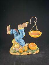 Yankee Candle Fall Autumn Scarecrow with Pumpkins Tart Warmer  Tea Light Holder