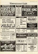 Curved Air Sassafras East Of Eden Roundhouse, London MM5 show Advert 1975 #1 AB