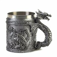 Serpentine Dragon Mug with Celtic Symbols Gothic Medieval Style