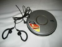 Used Sony DEJ011 Portable Walkman CD Player, ear buds, w/warranty