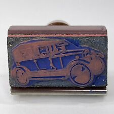 Vintage 1950s Wood And Rubber Ink Stamp Canada 1927 Willys Overland Whippet 93a