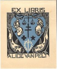 LUCIENNE MARCHAL: Exlibris für Alice van Pelt