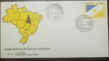 L) 1992 BRAZIL, TRIBUTE TO THE STATE OF TOCANTINS, FLAG, SUN, MAP, PALMAS, FDC
