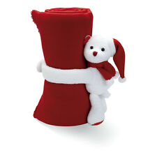 2 Rouge pour Enfant Polaire Blankets Câlins Ours Jouet Peluche