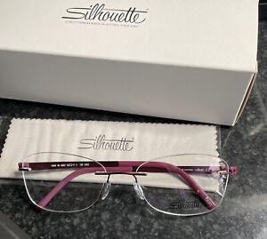 Silhouette Titan Accent 4494 6057 6057 Raspberry 53/17 Eyeglasses Optical Frames