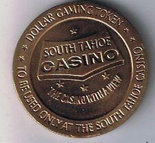 South Tahoe Casino $1.00 Brass Gaming Token Lake Tahoe, Nevada 1966