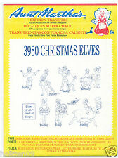 Christmas Elves **RETIRED** Aunt Martha's Hot Iron Embroidery Transfer