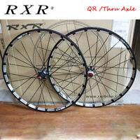 "RXR MTB Bicycle Bike 26/27.5/29"" Wheel set Full Carbon Hub QR/Thru Axle Model"