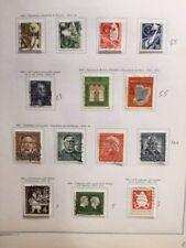 Collezione di francobolli usati Germania Federale dal 1949 al 1969