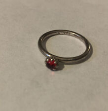 Ring Size 6 3/4 By Nygaard Red Stone Spinning Stackable Sterling Silver