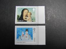 2017  Christmas 2nd Class Large sheet stamps pair Inverted Paper Variety (sL)