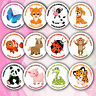 48 Personalised Animal Birthday Stickers Labels Thank You For Coming To My Party