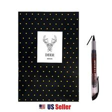 Mini Notebook with Calligraphy Brush Fude Kanji Pen Set : Deer