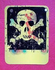 "Sticker Adesivo ""SKULL CARD"" lucentezza-ottica-Stickerbomb Laptop Skateboard"