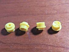 Aurora Thunderjet HO Slot Car Truck Wheels yellow hubs (set of 4)