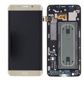 DISPLAY+TOUCH SCREEN ORIGINALE SAMSUNG GALAXY S6 EDGE+ PLUS G928F LCD VETRO GOLD