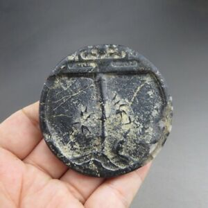 China,liaoning,jade,hongshan culture,black magnet,bamboo,choi,pendant Z28