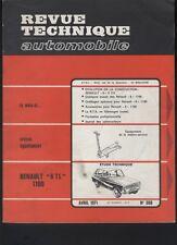 (169A) Revue technique automobile Renault 6 TL 1100