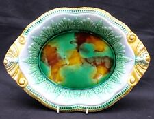 Large Antique Victorian Majolica Pottery Oval Dish or Bread Plate George Jones ?