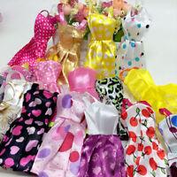 """Hot 10Pcs/lot Handmade Princess Party Dresses Clothes Doll 11"""" Dolls"""