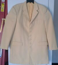 Mens Soprano Suit 48L Jacket 43L Pants Cream Color Big & Tall