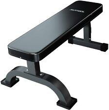 Flat Weight Bench Weight Training Abdominal Standard Fitness Bench Black