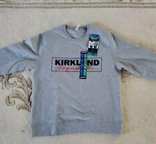 Kirkland Signature Unisex Sweatshirt Gray mens L Womens XL FREE SHIPPING