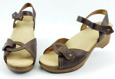 3af48f313e47 Dansko SARA Brown Leather Ankle Strap Sandals Women s Size 41   10.5-11