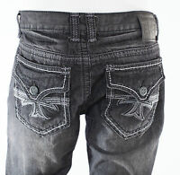 Xtreme Couture Affliction Mens Denim Jeans HOLLYWOOD BLACK Embroidered 30-42 $79
