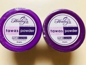 2 Hailey's Tawas Powder Scented 50 grams Each Jar