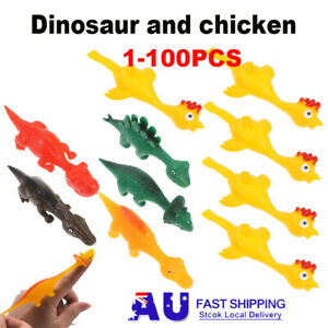 Catapulted Ejection Chicken Finger Prank Flying Toy Turkey Dinosaur Slingshot AU