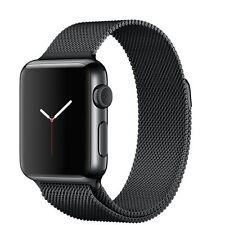 Apple Watch 38mm Space Black Stainless Steel Case Space Black Milanese loop - (MMFK2B/A)