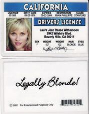 Reese Witherspoon fun id card / drivers license Legally Blonde movie star