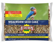 New listing Audubon Park Mealworm Wild Bird Seed Cake 12486 - 1 Each