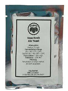 Kveik Voss Dried Yeast - Norwegian Sigmund Farmhouse Kviek Ale Yeast - Home Brew