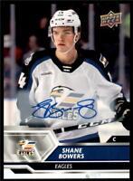2019-20 UD AHL Auto Parallel #53 Shane Bowers - Colorado Eagles