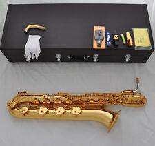 Professional Taishan Eb gold baritone saxophone Low A key high F# Germany mouth