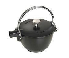 STAUB Bouilloire rond noir 16,5 cm pour thé fer de fonte emaillieru