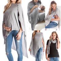 Multi Use Women Maternity Pregnant Solid Long Sleeve Top T Shirt Nursing Blouse