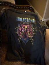 Halestorm 2019 Tour T Shirt Black Canvas Brand Graphic Tee Neon Wolf  2xl