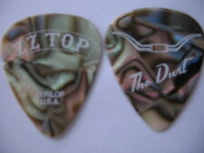 Zz Top Dusty Hill Abalone Pearl Real 2016 Tour Guitar Pick