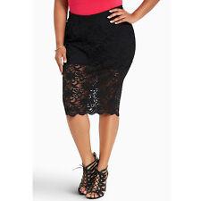 Torrid Black Lace Pencil Skirt 26W NWT Gothic Lolita Pinup Plus size